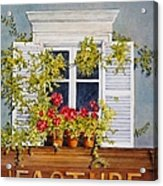 Parisian Window Acrylic Print by Mary Ellen Mueller Legault