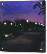 Park At Dusk Acrylic Print