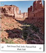 Park Avenue Trail, Arches National Park, Moab, Utah Acrylic Print