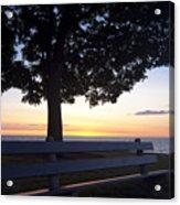 Park Bench At Dawn Acrylic Print