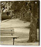 Park Bench In A Park Acrylic Print