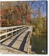 Park Bridge Autumn 2 Acrylic Print