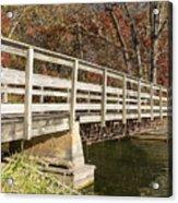 Park Bridge Autumn 3 Acrylic Print