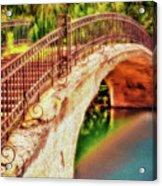 Park Walk Bridge Acrylic Print