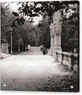 Park Walk In Fall Acrylic Print