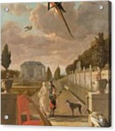 Park With Country House, Jan Weenix, 1670 - 1719 Acrylic Print