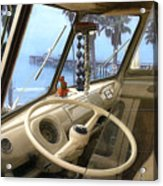 Parked Above The Pier Acrylic Print by Ron Regalado