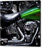 Parked Harleys Acrylic Print