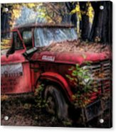 Parked On A Country Road Oil Painting Acrylic Print