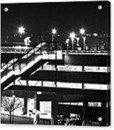 Parking Garage At Night Acrylic Print