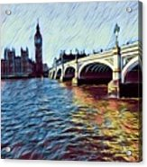 Parliament Across The Thames Acrylic Print