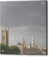 Parliament Blizzard  Acrylic Print