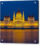 Parliament On The Danube Acrylic Print