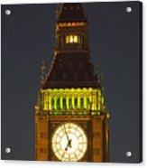 Parliament Tower At Night Acrylic Print