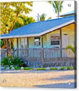 Parmer's Resort Cottage In Keys Sunset Glow Acrylic Print