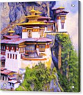 Paro Taktsang Monastery Bhutan Acrylic Print