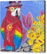 Parrot In Gear Tree Acrylic Print