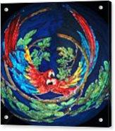 Parrots Go Round Acrylic Print