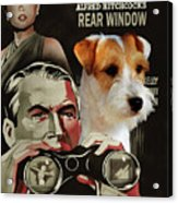 Parson Russell Terrier Art Canvas Print - Rear Window Movie Poster Acrylic Print