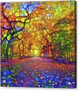 Park In Autumn Acrylic Print