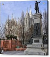 Part Of Temple Square Acrylic Print