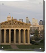 Parthenon With Nashville Skyline  Acrylic Print