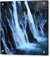 Partial Side View Of Burney Falls Ca Acrylic Print