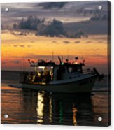 Party Boat Acrylic Print