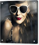Party Fashion Pin Up Acrylic Print
