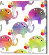 Party Parade - Elephant Children Pattern Acrylic Print