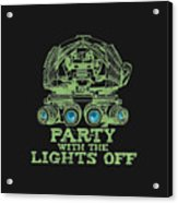 Party With The Lights Off Acrylic Print