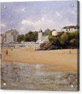 Paseando Por La Playa Del Sardinero Acrylic Print