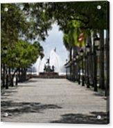 Paseo De La Princesa In San Juan Acrylic Print by George Oze