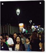 Paseo El Carmen Santa Tecla Acrylic Print