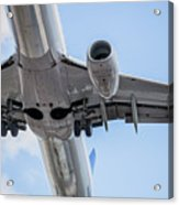Passenger Jet Coming In For Landing 7 Acrylic Print