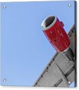 Passenger Jet Coming In For Landing 8 Acrylic Print