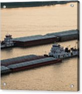 Passing Barges Acrylic Print