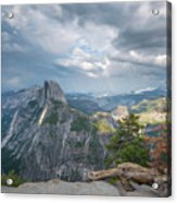 Passing Clouds Over Half Dome Acrylic Print