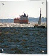 Passing Ships Acrylic Print
