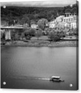 Passing Storm In Chattanooga Black And White Acrylic Print