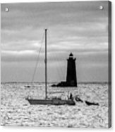 Passing Whaleback Light In The Early Morning Acrylic Print