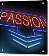 Passion Neon Concept. Acrylic Print