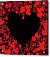 Passionate Love Heart Acrylic Print