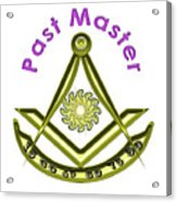 Past Master In White Acrylic Print