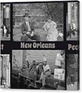 Past New Orleans People Acrylic Print