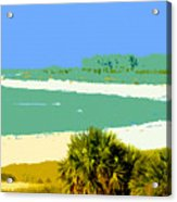 Pastel Beach Acrylic Print