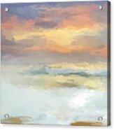 Pastel Beach Mornning Acrylic Print