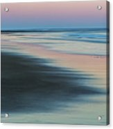 Pastel Dawn On Plum Island Sands Acrylic Print