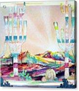 Pastel Desert Landscape Acrylic Print