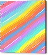 Pastel Diagonals Acrylic Print